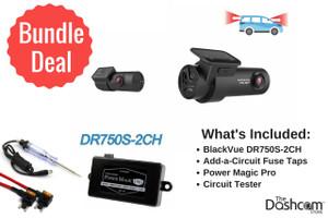 BlackVue DR750S-2CH 1080p Dual-Lens Dashcam  Install Bundle