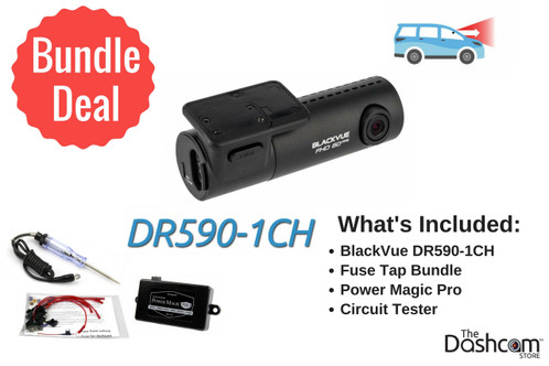 BlackVue DR590-1CH Dash Cam DIY Bundle