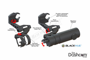 BlendMount BlackVue Dashcam Mirror Stem Mount | Speciality Mount Component Diagram