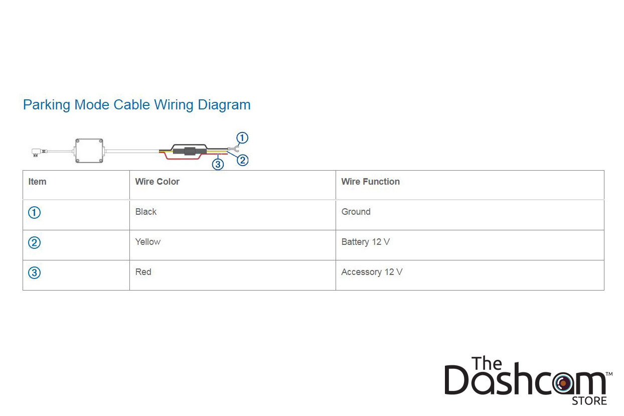 Garmin Dashcam Parking Mode Kit Microusb Direct Wire Power Cable Nuvi Wiring Diagram Larger More Photos