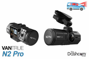 Vantrue N2 Pro Dual Lens 1080p Night-vision Dash Cam | for Front + Inside Video and Audio Recording