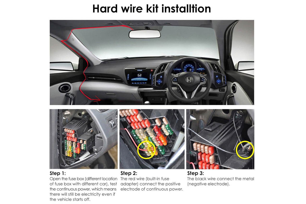 Vantrue Parking Mode Direct Hardwiring Kit For N2 Pro Dashcam Honda Cr Z Fuse Box Larger More Photos