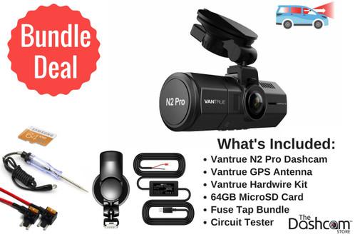 Vantrue N2 Pro Dual Lens 1080p Dashcam Install Bundle | Vantrue Bundle Products