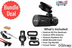 Vantrue N2 Pro Dual Lens 1080p Dashcam Install Bundle | Vantrue 2CH Bundle Products