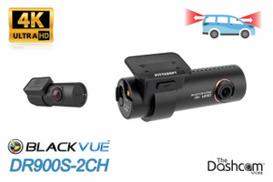BlackVue DR900S-2CH Dual Lens 4K GPS WiFi Dashcam for Front and Rear