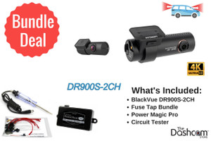 BlackVue DR900S-2CH Dash Cam DIY Bundle | 4K UHD Dual-Lens Dash Cam with WiFi and GPS | For Front and Rear Video Recording