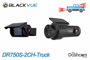 BlackVue DR750S-2CH-Truck Dual 1080p Dash Cam with Waterproof External Rear Camera | Pickup Truck Example Coverage