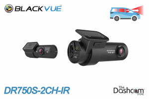 BlackVue DR750S-2CH-IR 1080p Dual-Lens WiFi GPS Dashcam w/ Infrared Interior Lens | For Front and Inside Recording