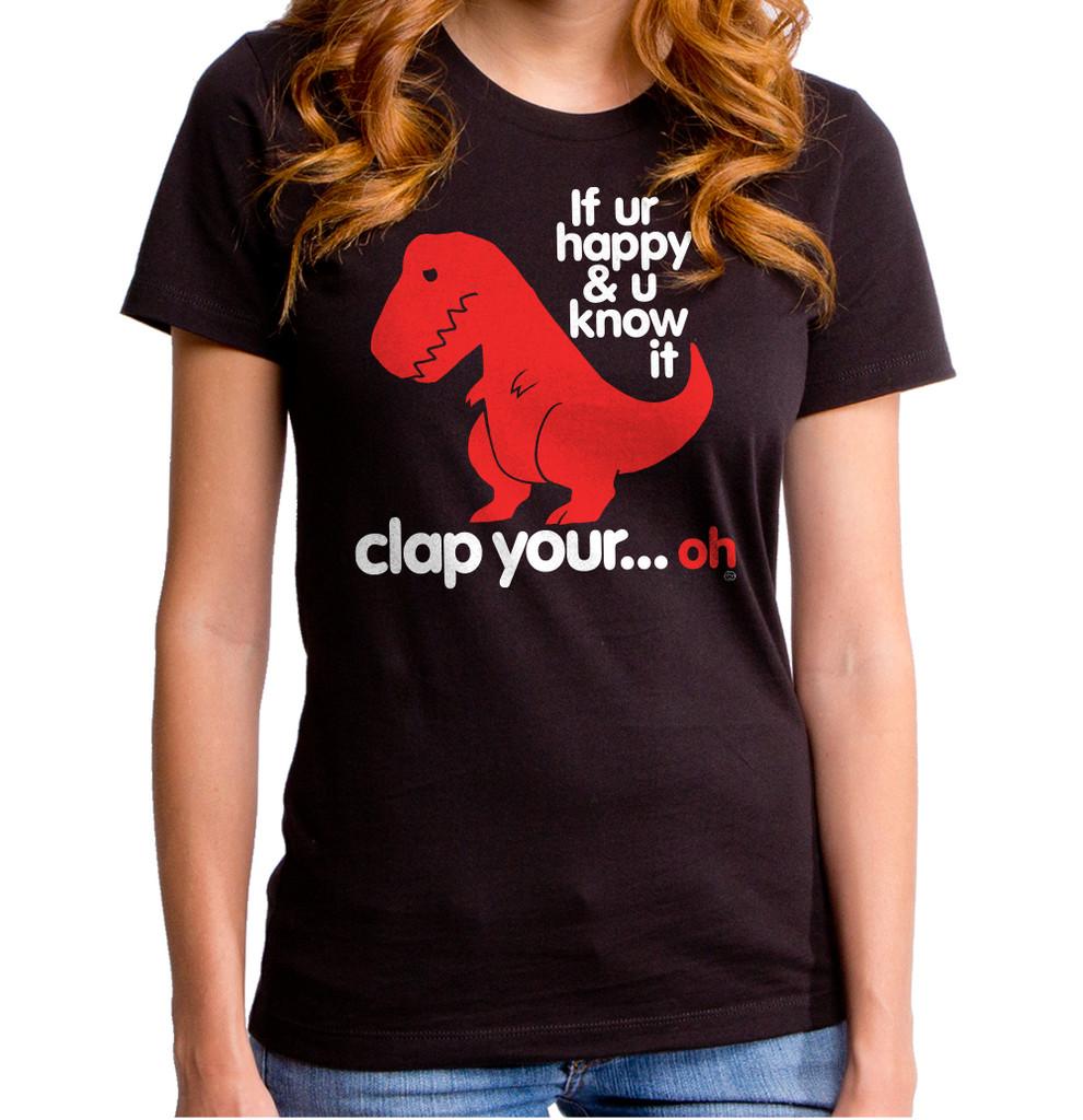 Sad T-Rex | Clap Your Oh Women's T-Shirt