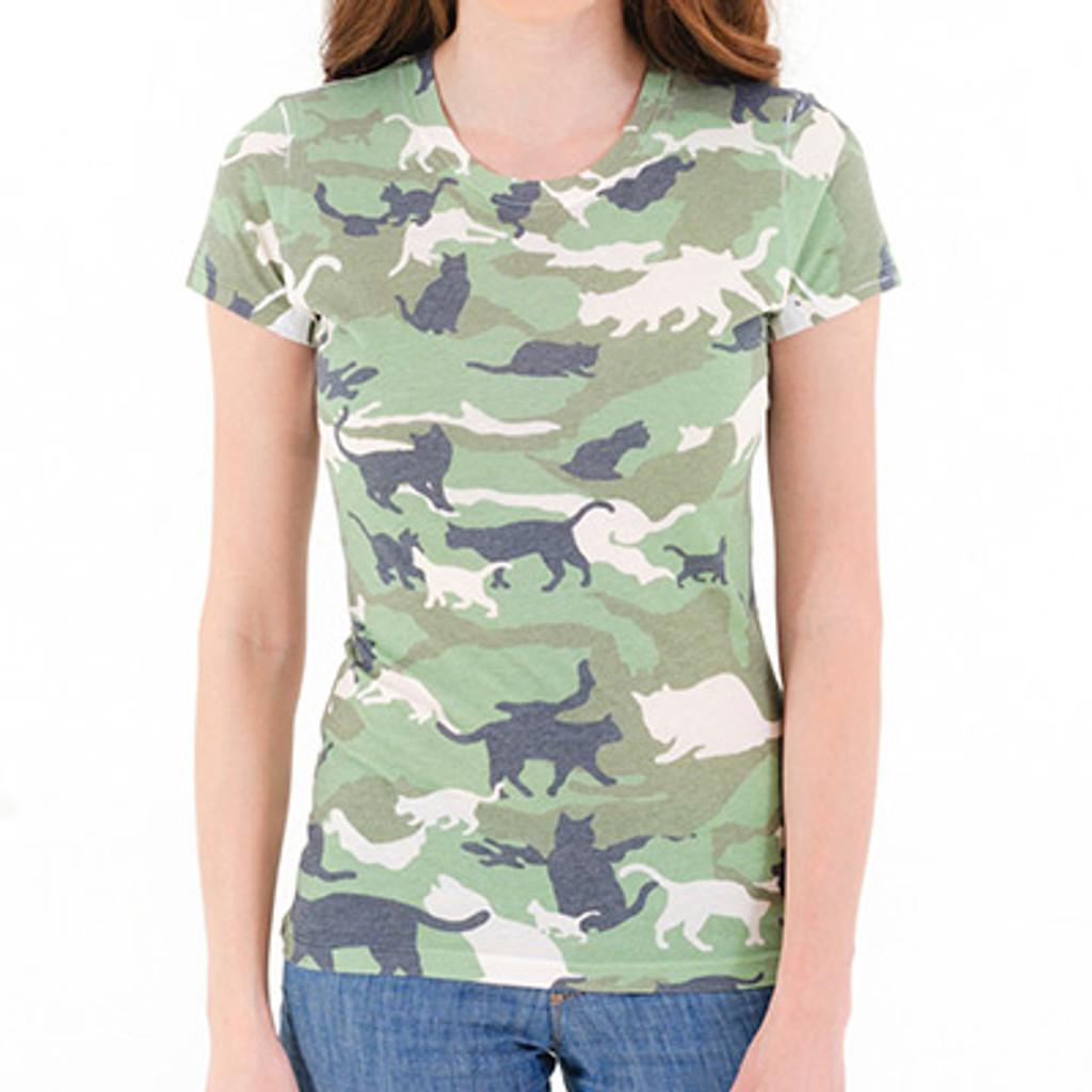 Catmouflage Cat Camo Women's Sublimated T-Shirt