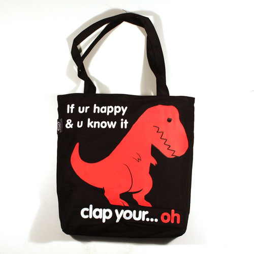Sad T-Rex Reversible Tote Bag