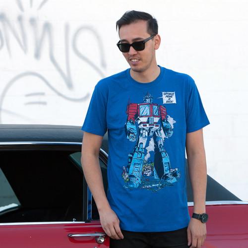 Transformers Optimus Prime Is Back Men's T-Shirt
