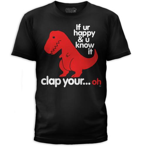 Sad T-Rex   Clap Your Oh Men's T-Shirt