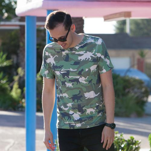 Catmouflage Cat Camo Men's Sublimated T-Shirt