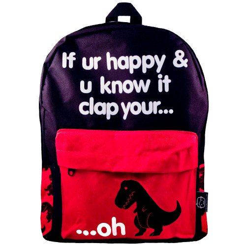 Sad T-Rex | Clap Your Oh Backpack