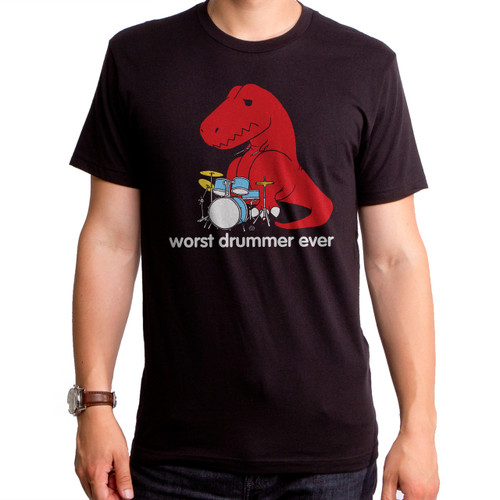 Guys Worst Drummer Ever Dino T-Shirt