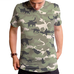 Catmouflage Cat Camo Men's T-Shirt