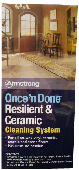 Armstrong Once N Done Resilient Ceramic Mop Kit
