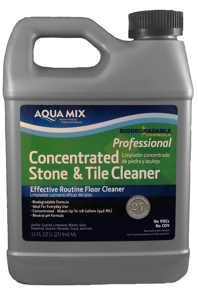 Aqua Mix Concentrated Stone and Tile Cleaner - Quart
