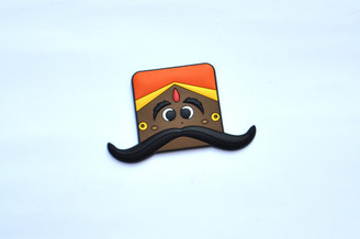 Moustache Dude Bendable Magnetic Hook