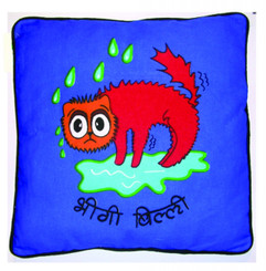 "Animal cushion - Wet Cat ""bhigi billi"""