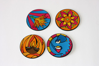 Diwali coaster set