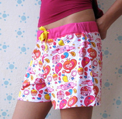 Princess Women's shorts (White/Pink/Yellow)