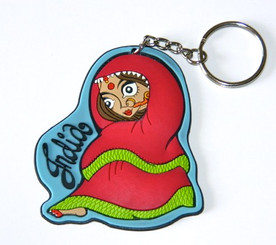 Beautiful Bride (in Indian Red Wedding Sari) Keychain (Chumbak-India)