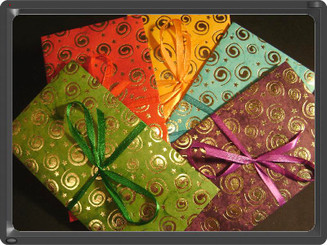 Ribbon envelopes (mix pack of 4) : circular design