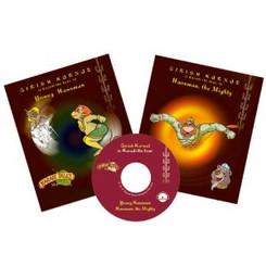 Karadi Tales: Young Hanuman & Hanuman The Mighty (with audio CD)