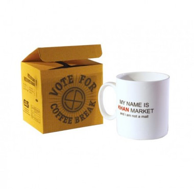Khan Coffee Mug (Happily Unmarried) White
