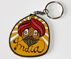 Chumbak: Sardar with red turban keychain