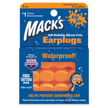 Mack's Childrens Pillow Soft Ear Plugs for Noise or Swimming - Kids Size - 6 Pair