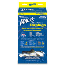 MACK'S Waterproof Adult Silicone Ear Plugs - 200 Pair Bulk Pillow Soft Ear Plug Dispenser