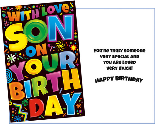 Son Birthday Wholesale Greeting Card Stockwell Greetings