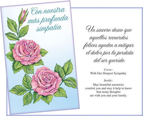 01033 six spanish sympathy greeting cards with six envelopes spanish sympathy greeting card m4hsunfo