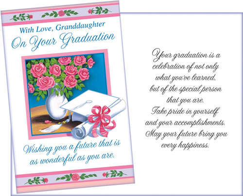 36067 six graduation granddaughter greeting cards with six envelopes graduation granddaughter greeting card m4hsunfo