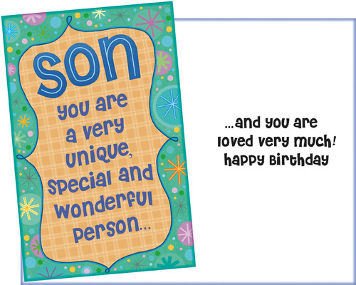 95575 six birthday son greeting cards six envelopes stockwell wholesale son greeting card m4hsunfo