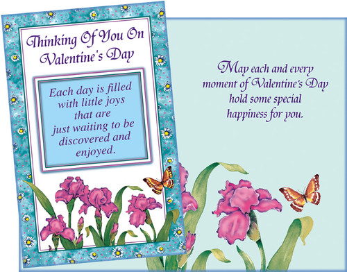 032056 six valentines day general thinking of you cards with envelopes thinking of you on valentines day greeting cards m4hsunfo