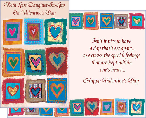 32129 six valentines day daughter in law cards with envelopes valentines day greeting cards daughter in law m4hsunfo