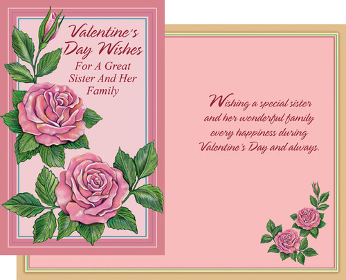 32132 six valentines day sister and family cards with envelopes valentines day sister and her family greeting cards m4hsunfo