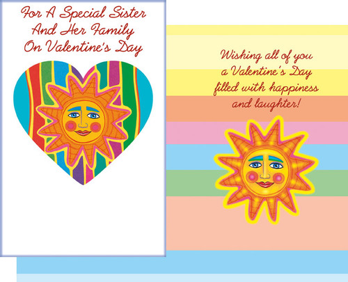 32133 six valentines day sister and family cards with envelopes valentines day sister and her family wholesale greeting cards m4hsunfo