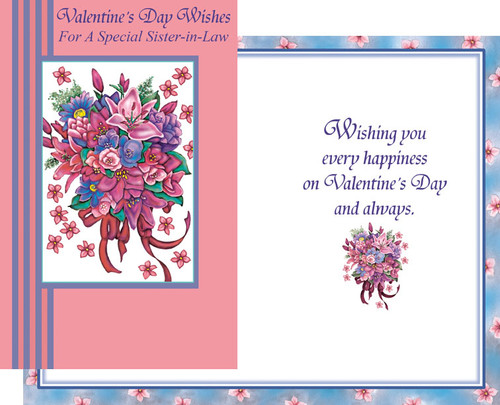 32134 six valentines day sister in law cards with envelopes valentines day wholesale greeting cards sister in law m4hsunfo Choice Image