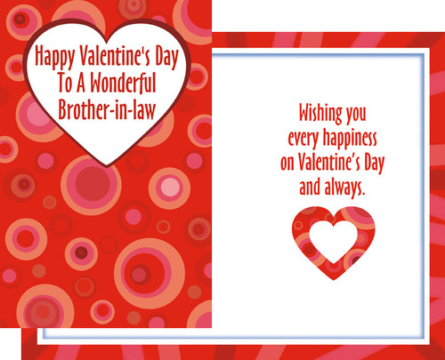 32186 six valentines day brother in law cards with envelopes wholesale valentines day greeting cards m4hsunfo
