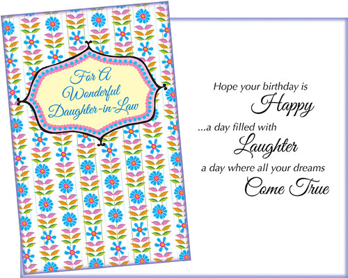 Daughter In Law Wholesale Greeting Card