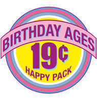 Small Batch Birthday Ages Deal - 204 greeting cards, 34 different designs
