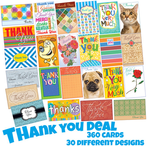 15 a card 360 thank you cards retail value 99000 your price wholesale greeting cards thank you greeting cards m4hsunfo