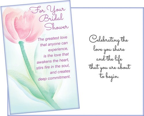 95890 six bridal shower greeting cards with six envelopes bridal shower greeting card m4hsunfo