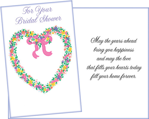 95893 six bridal shower greeting cards with six envelopes bridal shower greeting card m4hsunfo