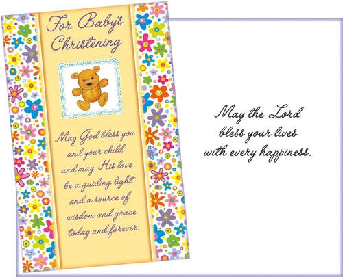 96341 six christening greeting cards with six envelopes stockwell christening greeting card m4hsunfo